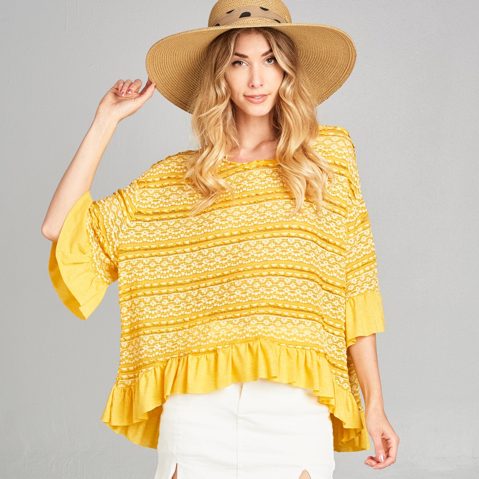 Bell Sleeve Crochet Top