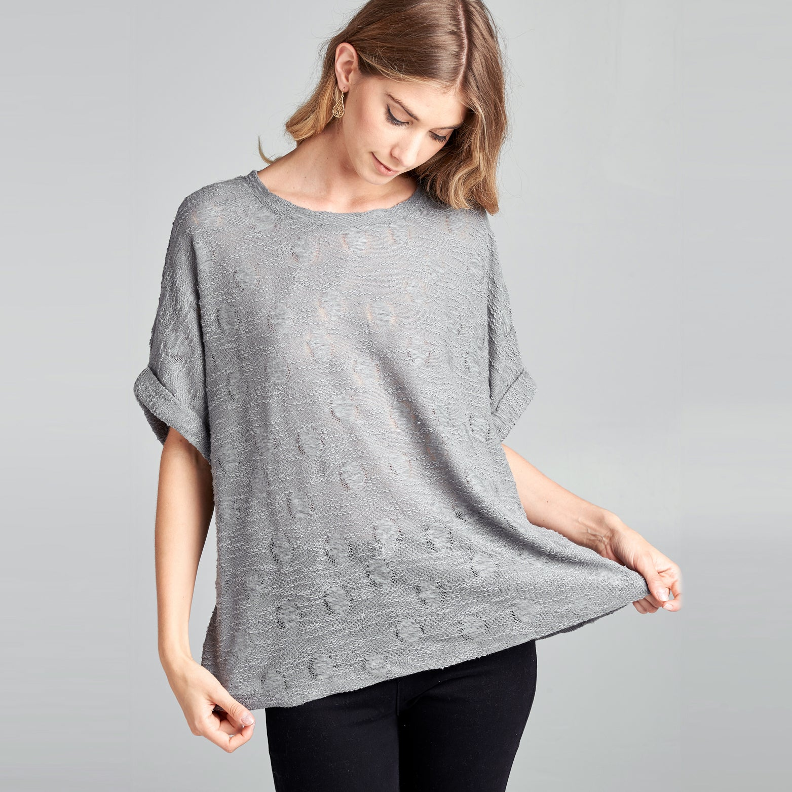 Breathable Slub Knit Top