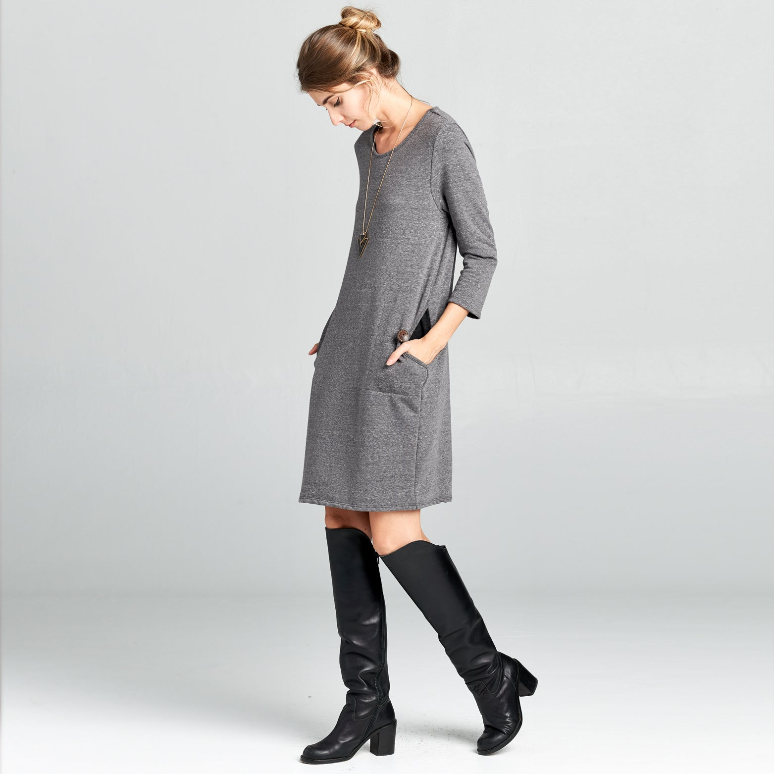 Moon Pocket Shift Dress