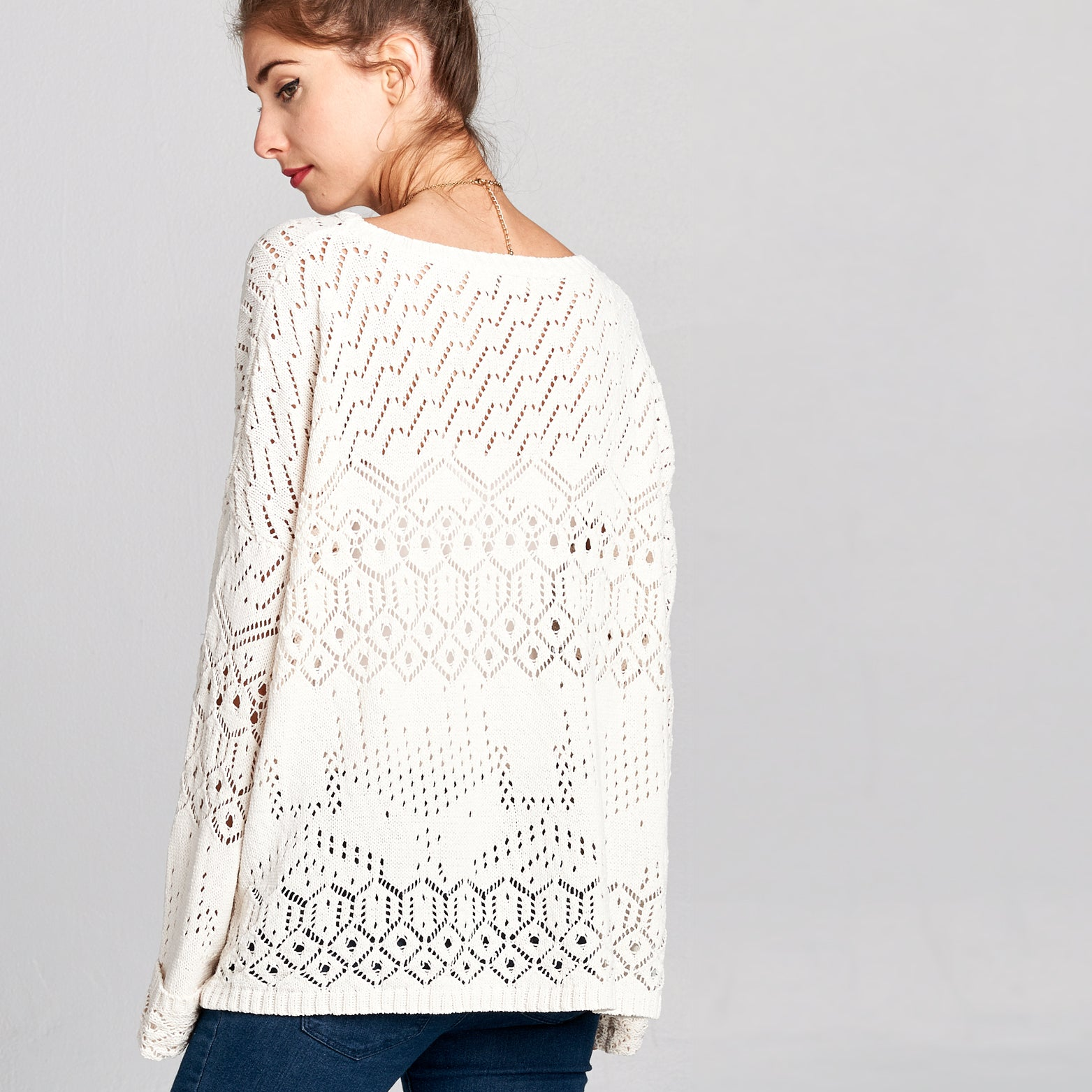 Crochet Knit Sweater - Love, Kuza