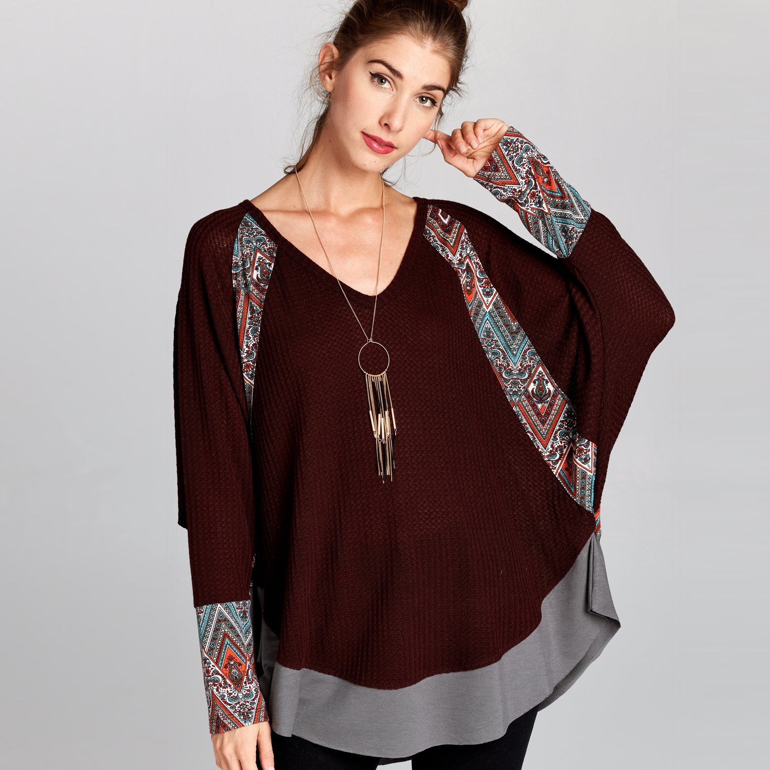 Thermal Knit Tribal Top