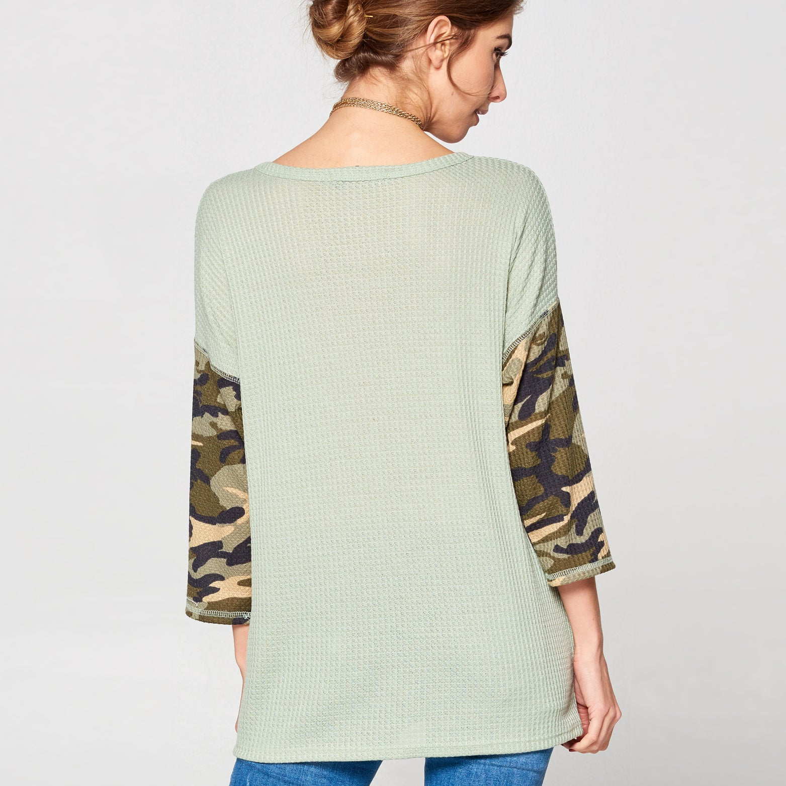 Camo Sleeve Thermal Top