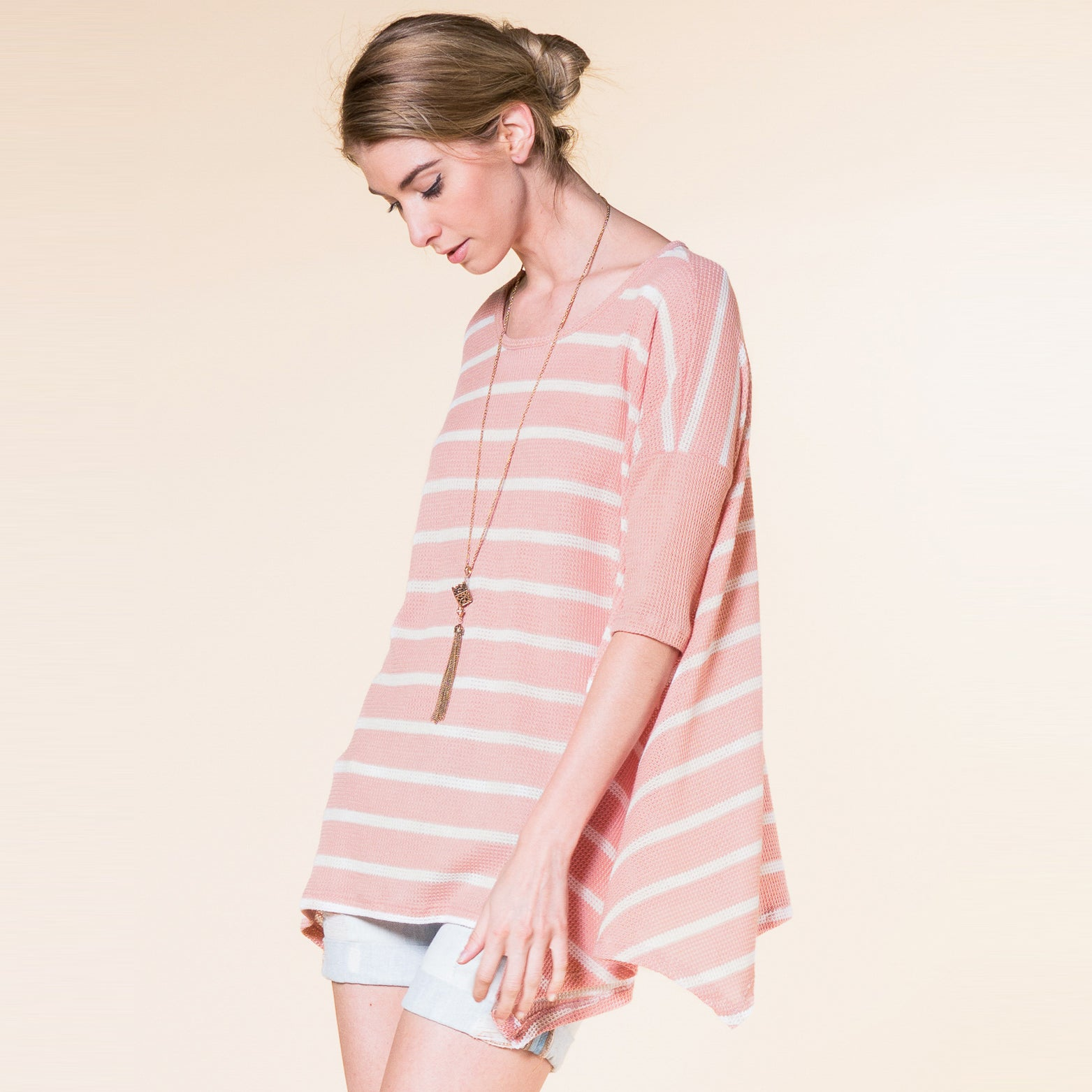 Thermal Stripe Swing Tunic