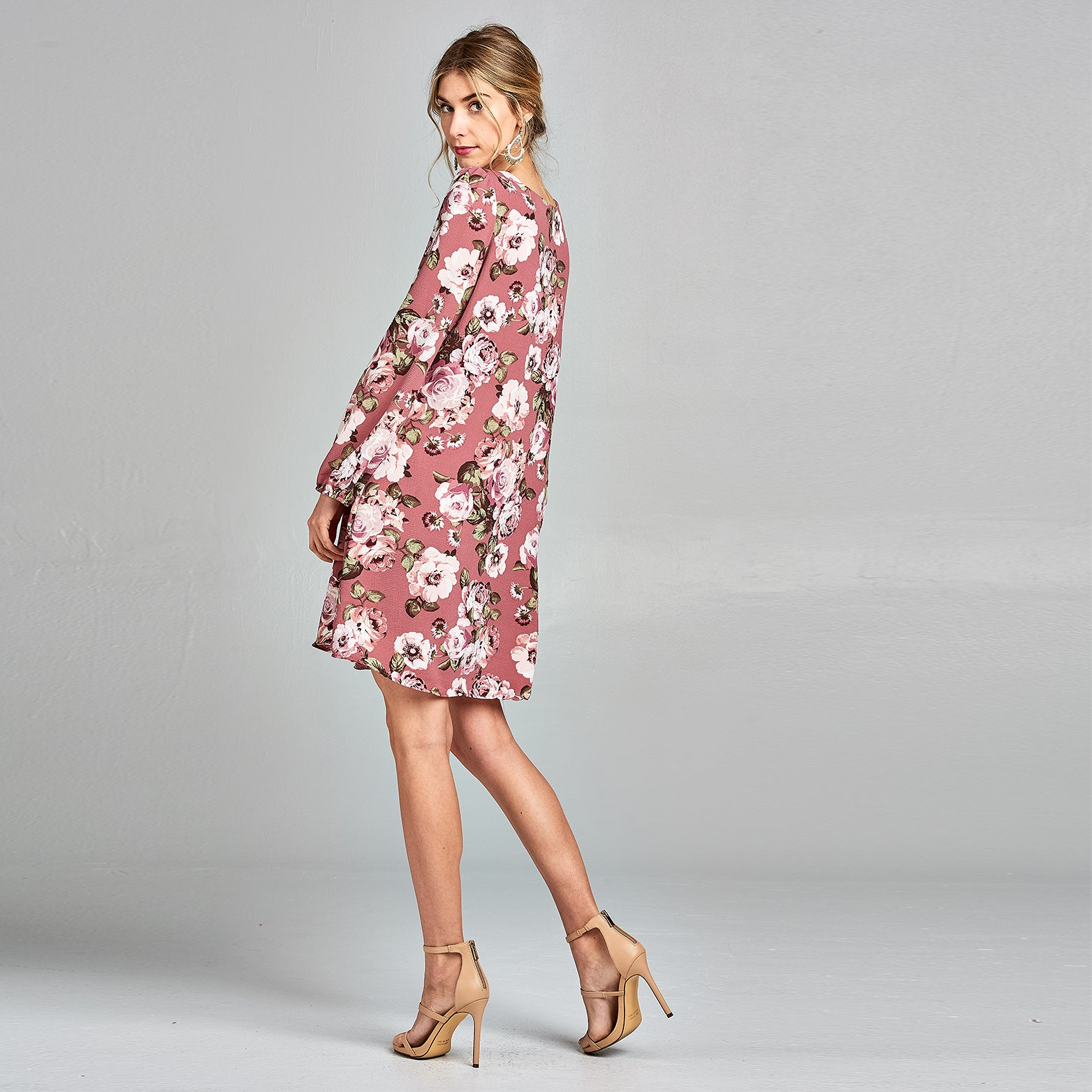 Peony Crepe Shift Dress