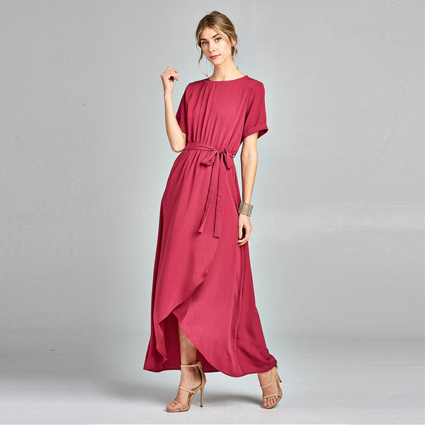 Magenta Petal Maxi Dress - Love, Kuza