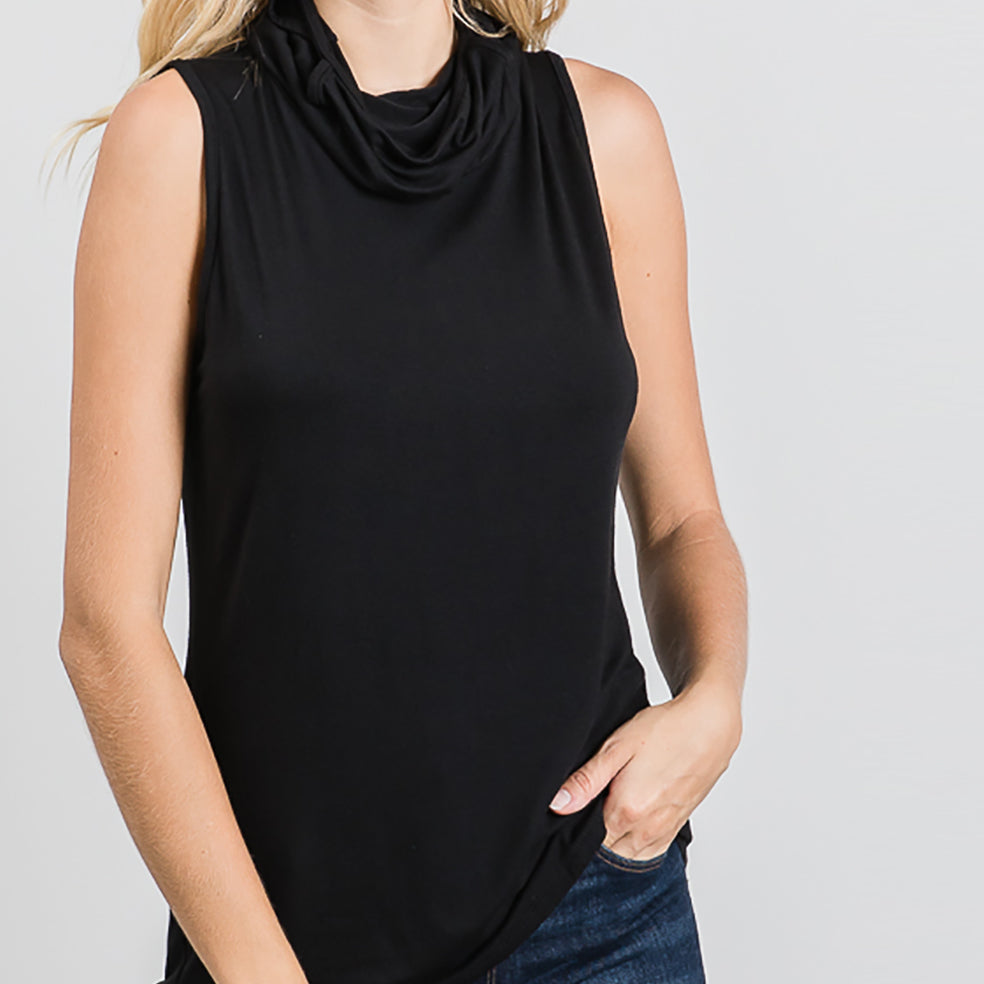 Cowl Neck Mask Top