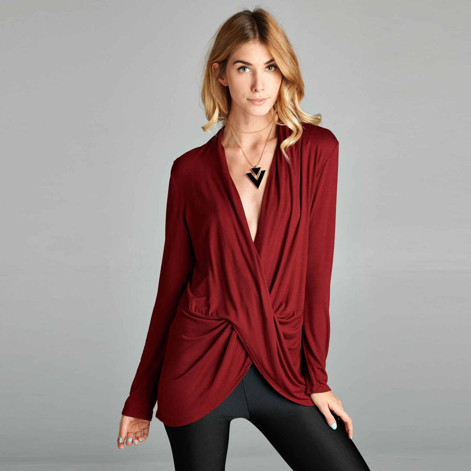 Everyday Easy Fit Wrap Blouse