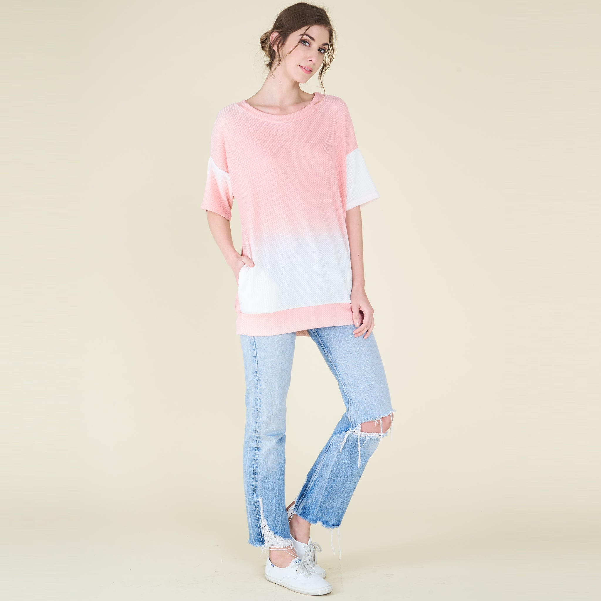 Ombre Thermal Pocket Tunic - Love, Kuza
