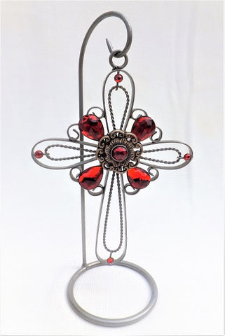 Jeweled Cross with Stand.