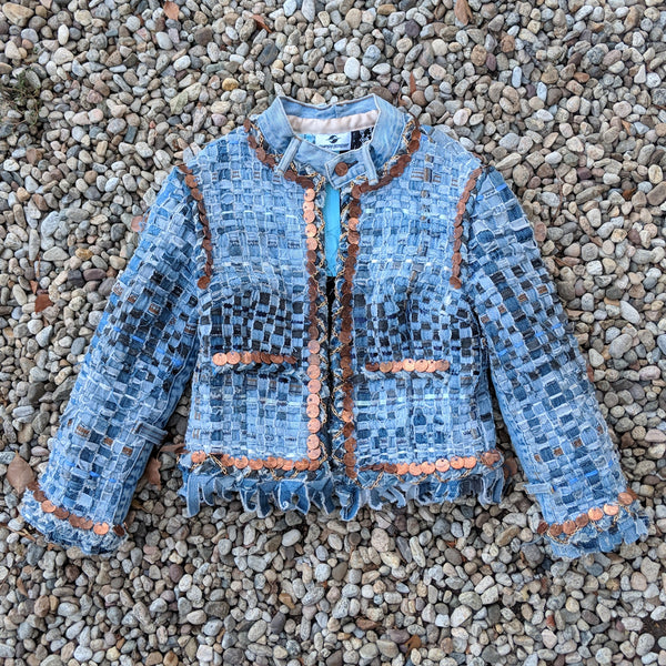 "SS19 ARTISANAL DENIM ""CHANEL"" JACKET"