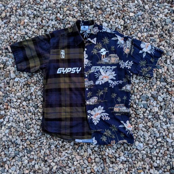 SS19 MIXED PRINT BUTTON UP SHIRT