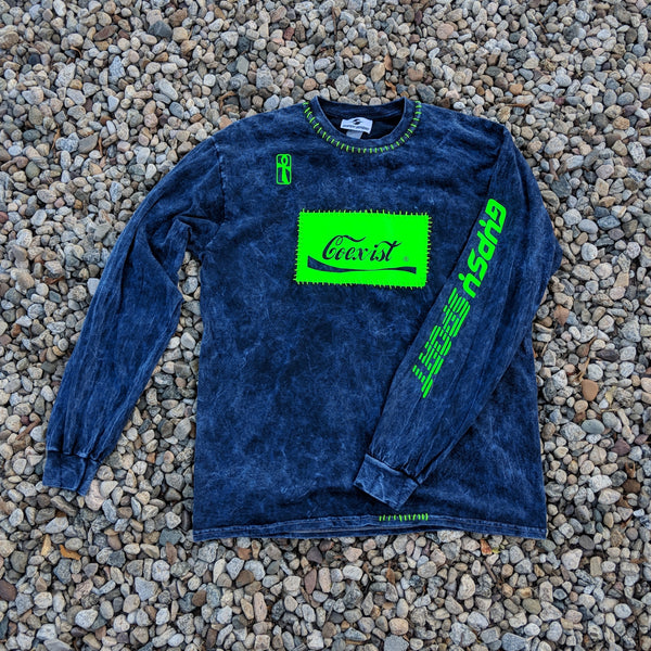 SS19 MINERAL WASHED L/S COEXIST TEE