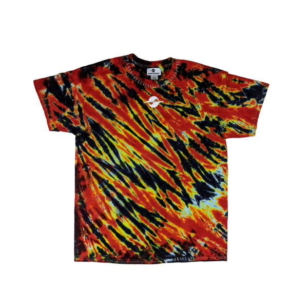 ES20 TIGER TIE DYE TEE - ORANGE