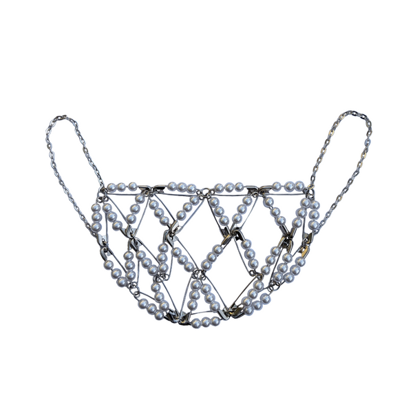 SS21 PEARL BEADED MASK