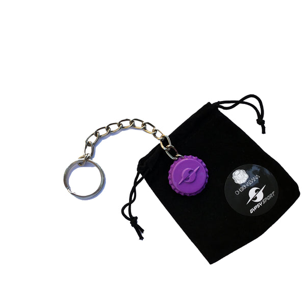 HATURN BOTTLE-CAP KEY FOB - PURPLE 🗝️