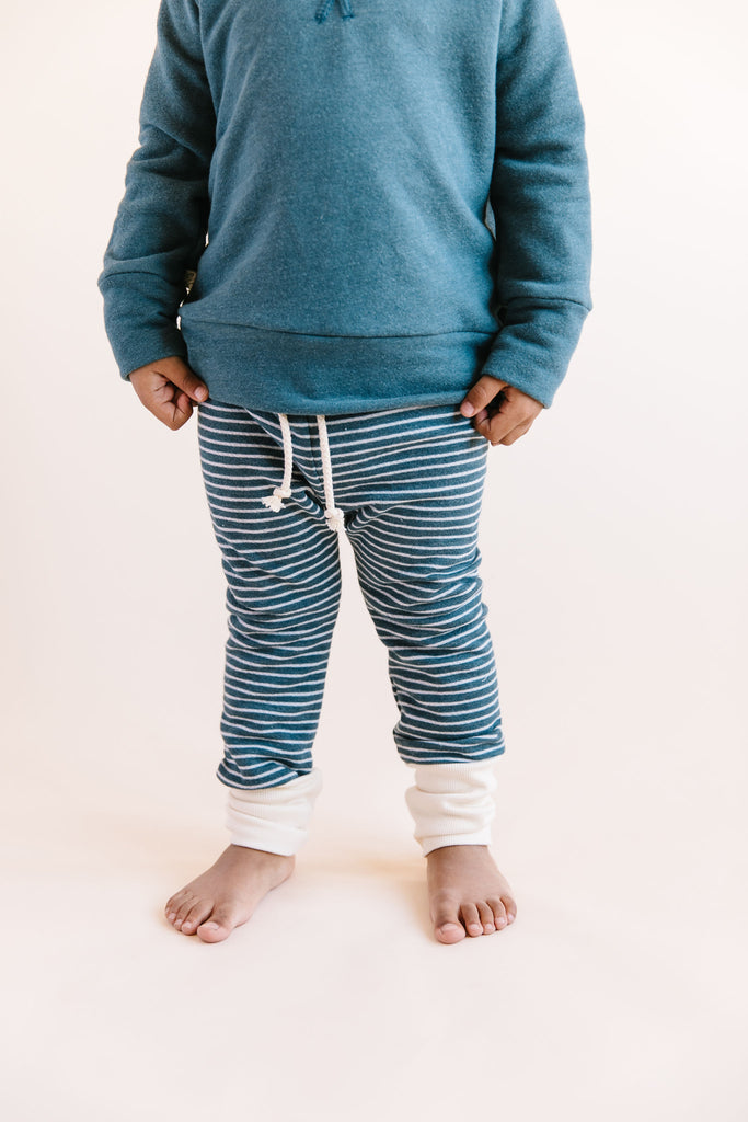 skinny sweats - storm stripe