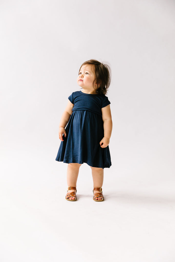 swing dress in 'navy'