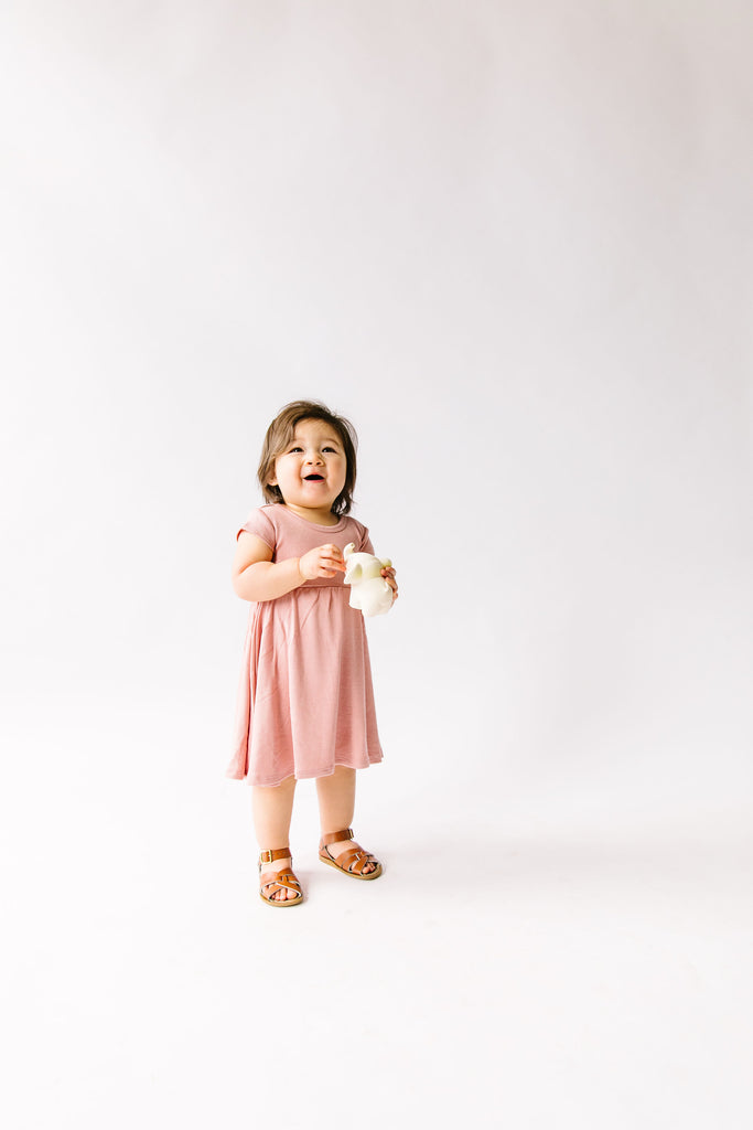 swing dress in 'clay pink'
