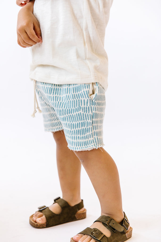 boy shorts in 'carolina blue domino'