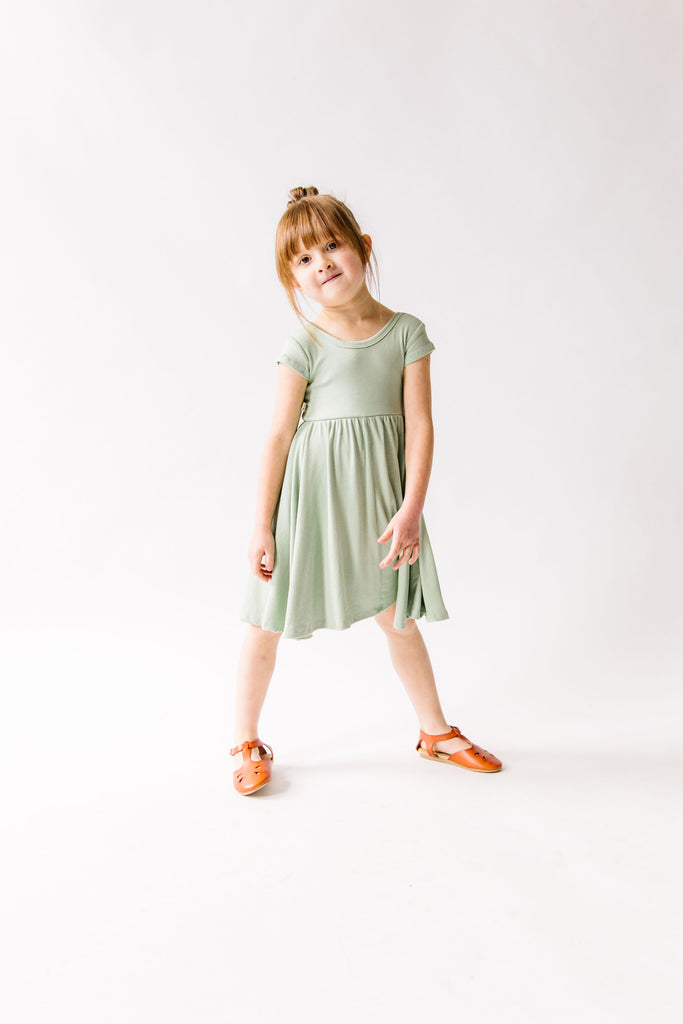 swing dress in 'sea spray'