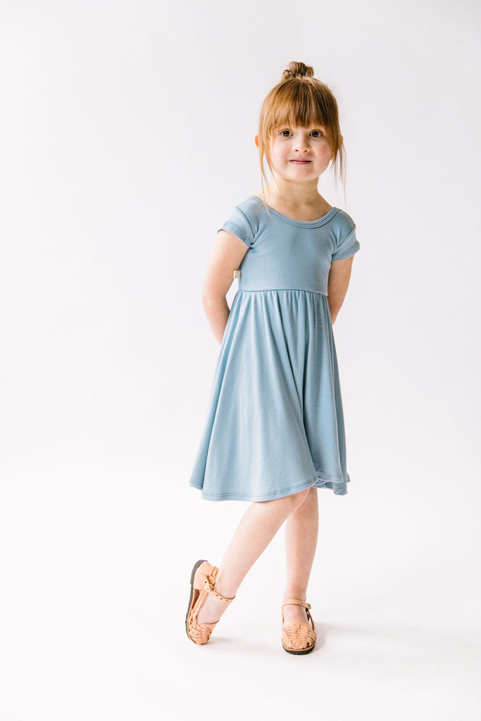 swing dress in 'carolina blue'