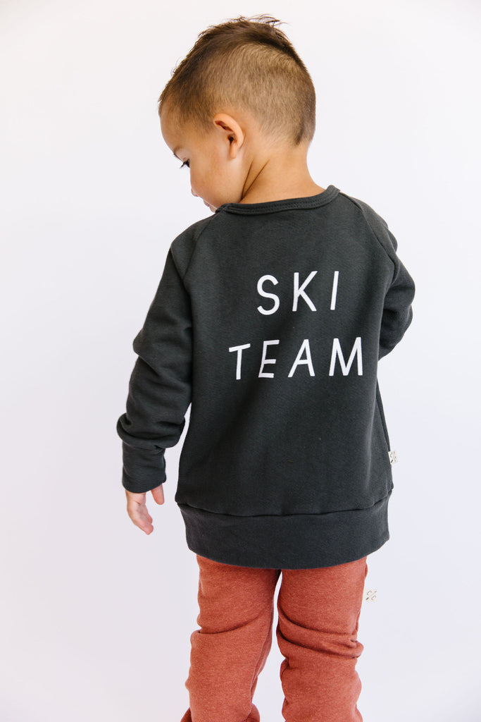 pullover crew - ski team on midnight