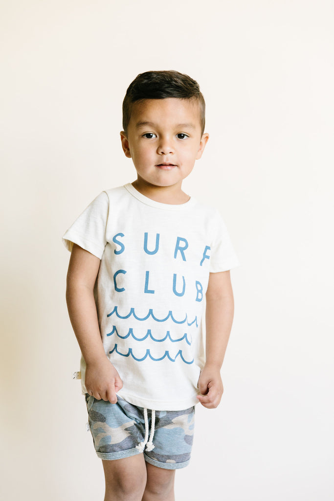 basic tee - surf club on natural