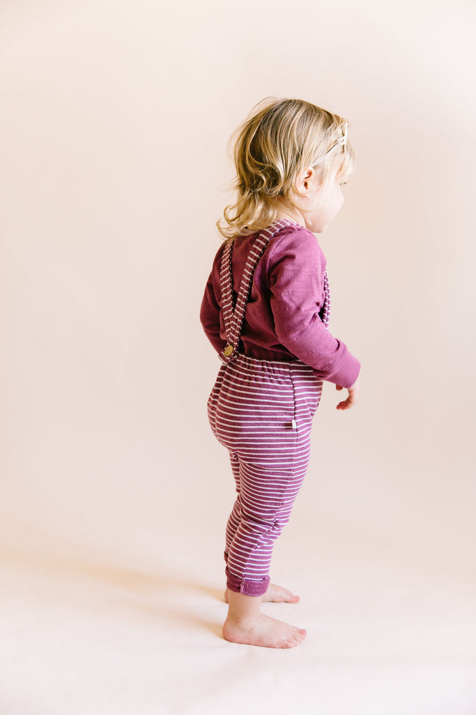 overall - sangria stripe