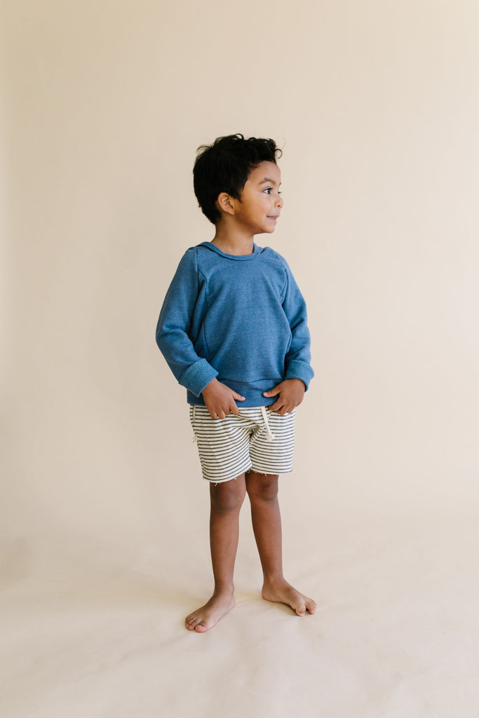 boy shorts - narrow gray stripe
