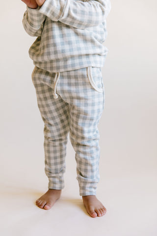 jogger - gray plaid