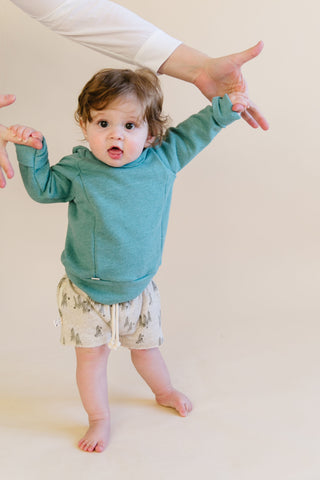 boy shorts in 'trees' on oatmeal