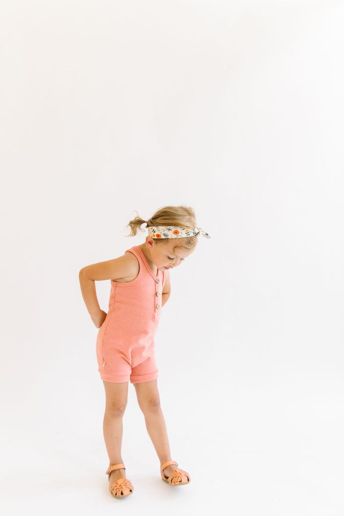 short tank romper in 'sunrise'