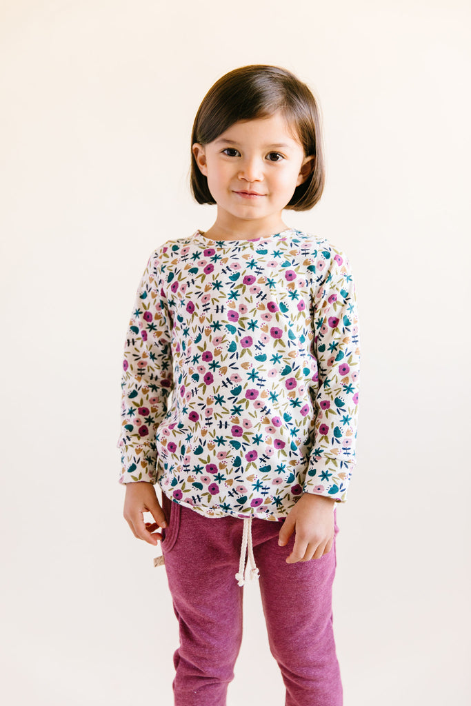 long sleeve tee - fall ditsy floral