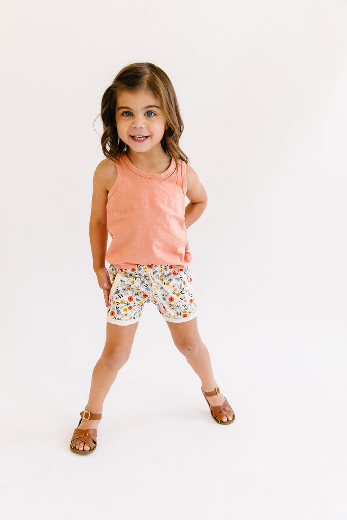 retro short in 'ditsy floral'