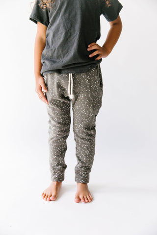 jogger in 'constellations' on faded black