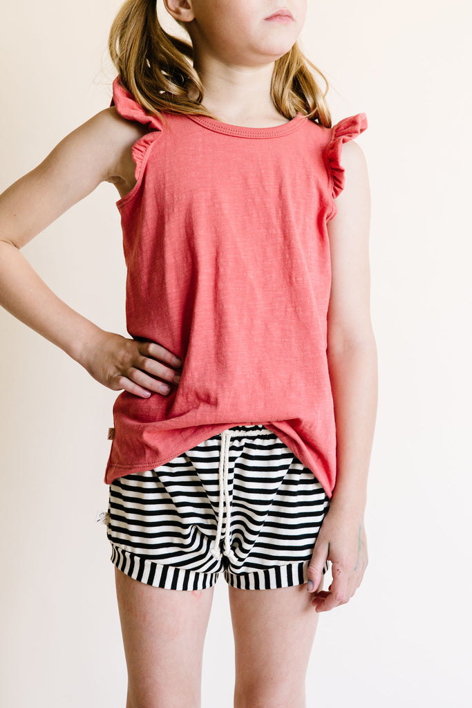 flutter tee - mineral red