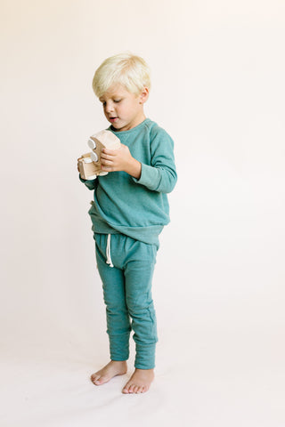 gusset pants - sea pine