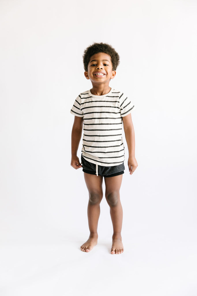 shorties in 'heather black' [please read sizing note]