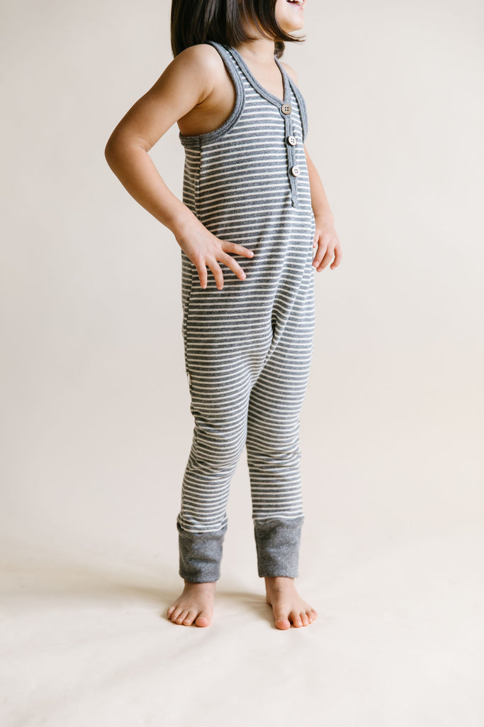 tank romper - heather gray inverse
