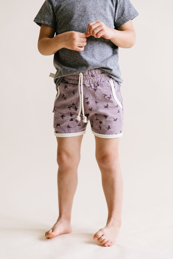 retro short in 'birds' on thistle