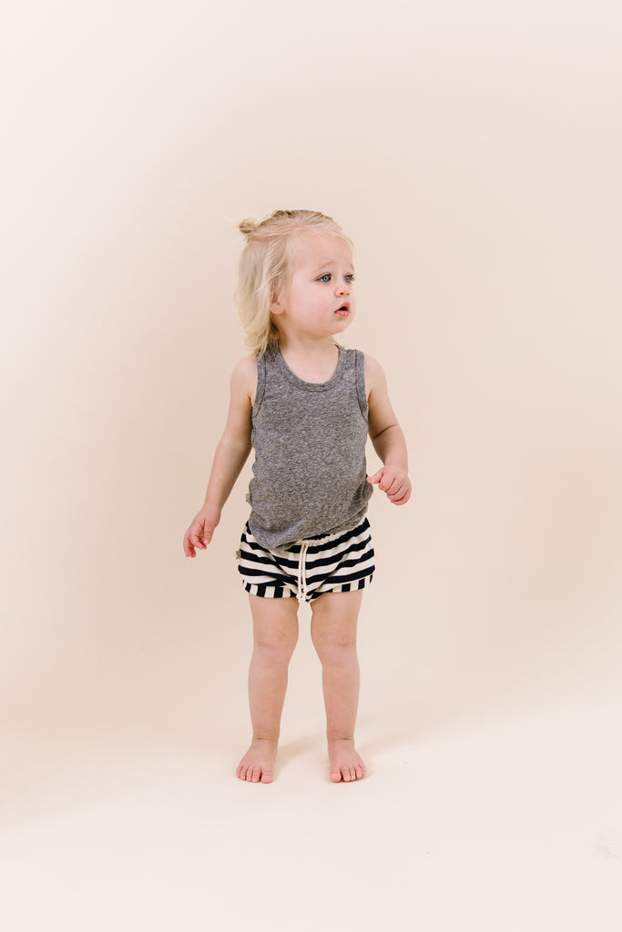 shorties - navy and cream stripe