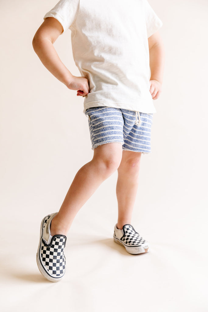 boy shorts - heather chambray stripe