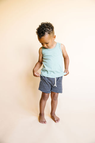 boy shorts - onyx stripe