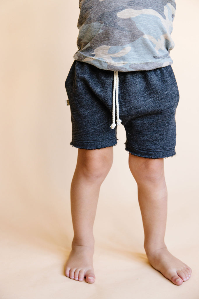 boy shorts - heather black [please read sizing note]