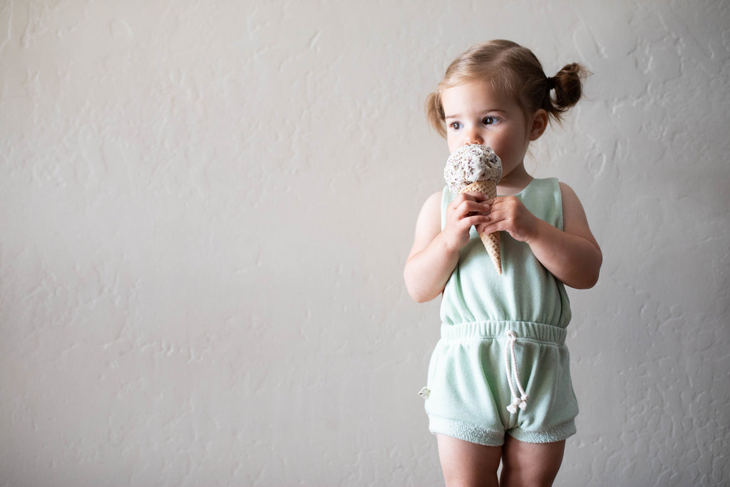 romper shortie in 'fresh mint' [please read sizing note]
