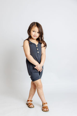 short tank romper - midnight