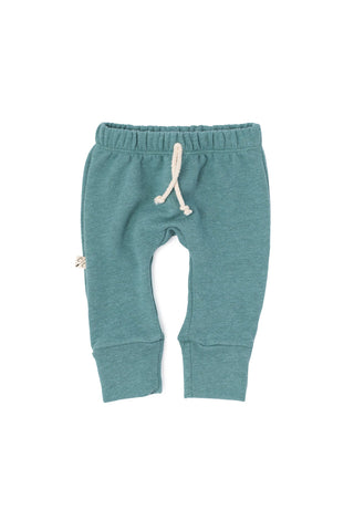 gusset pants in 'oil blue'