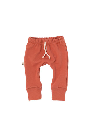 gusset pants in 'faded red'