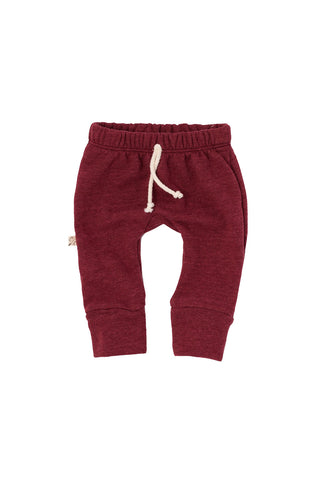 gusset pants in 'maroon'