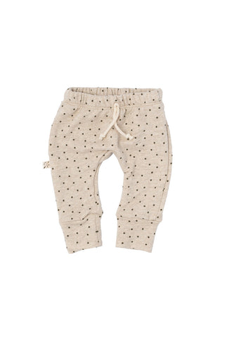 gusset pants in 'dots' on oatmeal